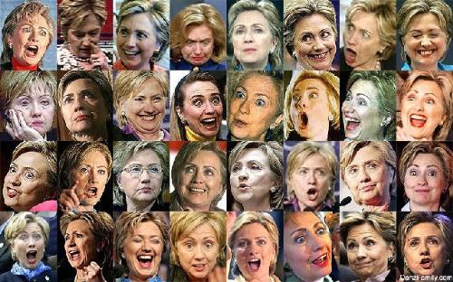 hillary clinton - Hillary Clinton funny faces