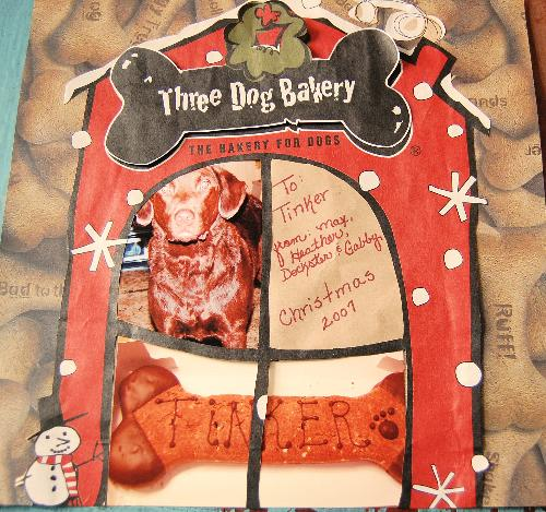 Three dog bakery scrapbook page - One of my latest pages I did