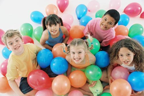 kids birthday party - kids birthday party with balloons