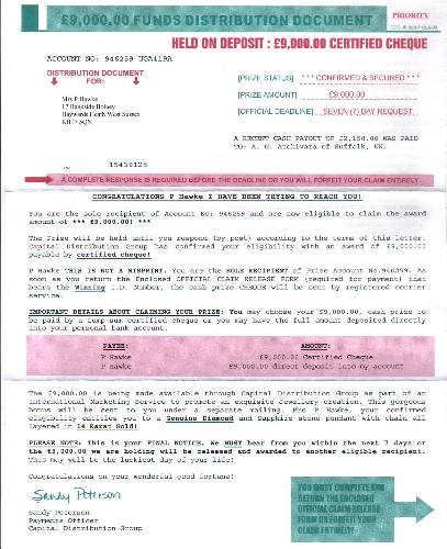 "CDG ""Ripoff"" Letter - A letter received by Royal Mail, from CDG, Toronto, Canada."