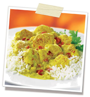 Plate of Curry - Plate of Indian curry