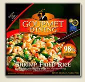 Shrimp Fried Rice package - This is the package the Shrimp Fried Rice came in.
