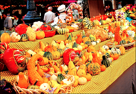Healthy Foods - Fresh produce in a Provence market.