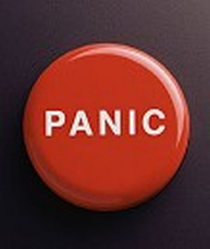 Red Panic Button - Just that, a pic of a red panic button