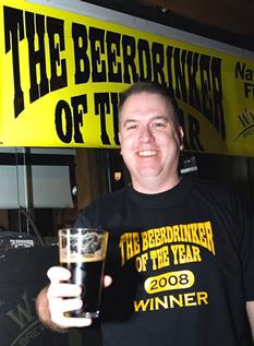 A proud man! - beer drinker