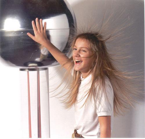 static  - static hair