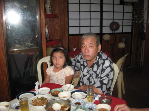a Japanese otosan (father) - Taken inside the restaurant where I worked.