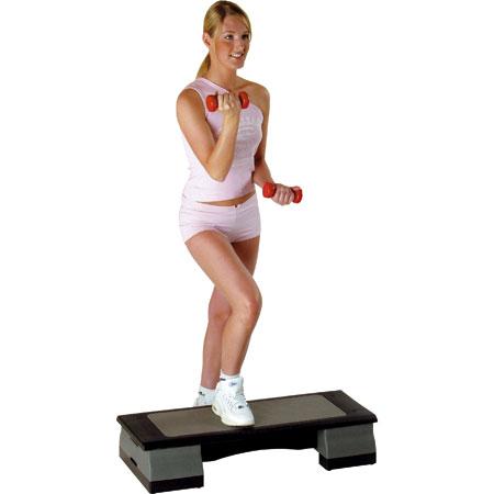 Aerobic exersixes - A woman doing aerobics