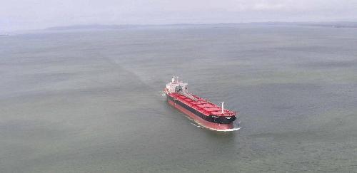 A ship!!! - View of a ship sailing in deep sea!!