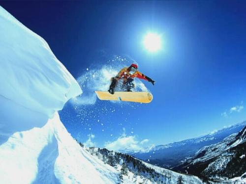 Snowboarding - Snowboarders will be lonely for the winter has just finished.