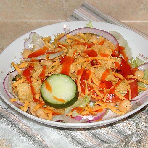 Small Frito Salad w/ dressing - Frito salad