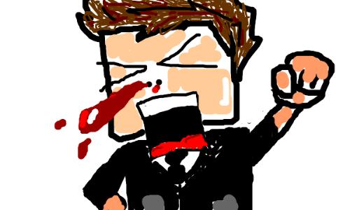 Bleeding Nose - yucky bloody nose