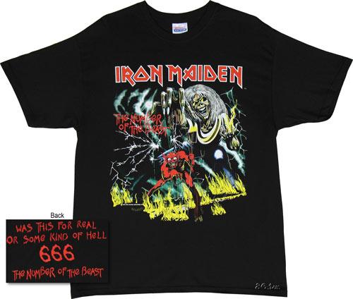 Iron Maiden T-shirt - Iron Maiden Number of The Beast