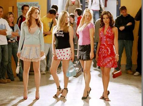 Mean Girls - The four main Mean Girls from the movie. In order they are Cady, Karen, Regina and Gretchen. A hillarious movie that I recommond watching if you have never seen it before! One of my personal favorites.