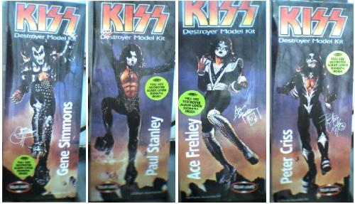 Kiss Destroyer Models - These Kiss models have never been opened