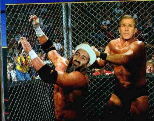 bush - bush with osama