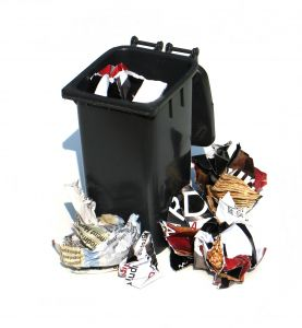 garbage can - full garbage can