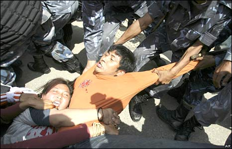 tibeten protesters - Tibet protesters protest against china in Katmandu before china embassy.