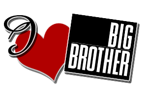 I love Big Brother - I love Big Brother red heart black lettering