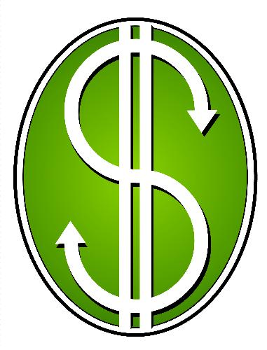 green dollar sign - copyright free image of a green dollar sign from http://www.dreamstime.com