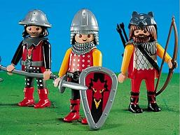 Playmobil Knights - Three of the very cool knight figures from Playmobi