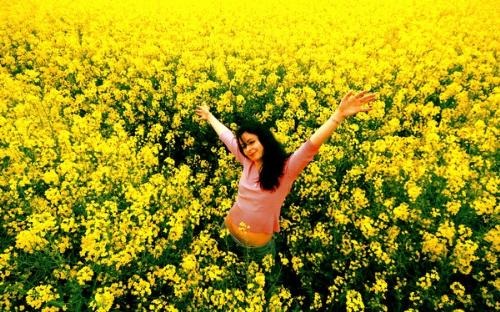 Happy - This is a picture of me in a field.