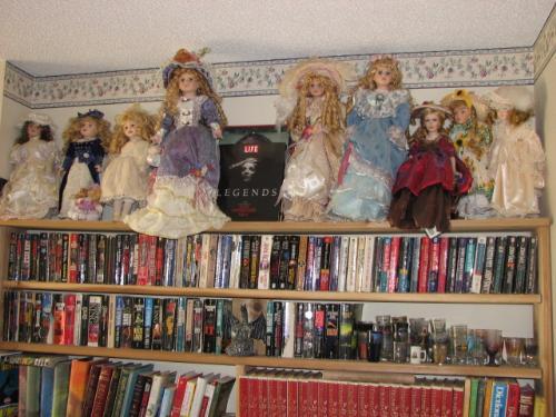 Shelf Of Dolls - A few of my dolls i collect
