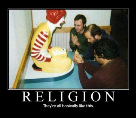 Mcdonalds Another Religion - A funny photo