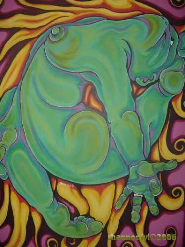 grace - acrylic on canvas. 4x3 feet