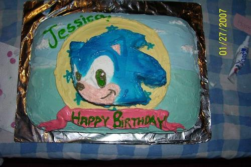 14th birthday cake. The Hedgehog Birthday Cake