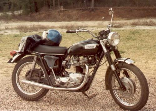 1970 Triumph Trophy TR6c - One of my favourite motor designs, even though it required attention from time-to-time. The Triumph vertical twin was light at 365 lbs in 1970, produced 52 hp, got 65 to 70 mpg, and was an absolute blast to ride.