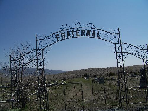 The gates of Fernley Cemetery. - The Cementery was started in the early 1800's and is located by an Indian Reversation.
