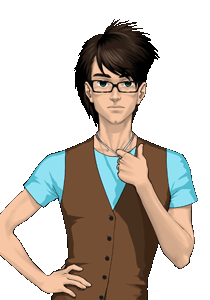 Christian Siriano - This is a picture of Christian as he apears on gaiaonline. He is in the Barton Boutique shop with Ian.