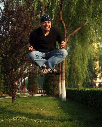 Levitation Man -  A man levitating