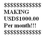 USD$1000 per month - Making USD1000 per month online