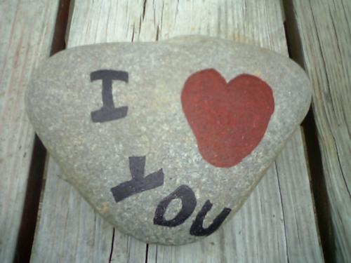 I love you Rock - My Mother's Day gift from my 8 year old son.
