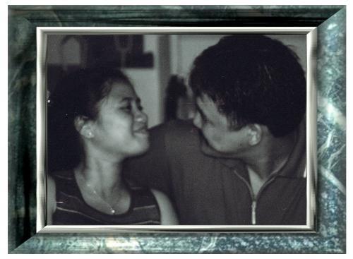 me and my hub - should we kiss? hahaha!