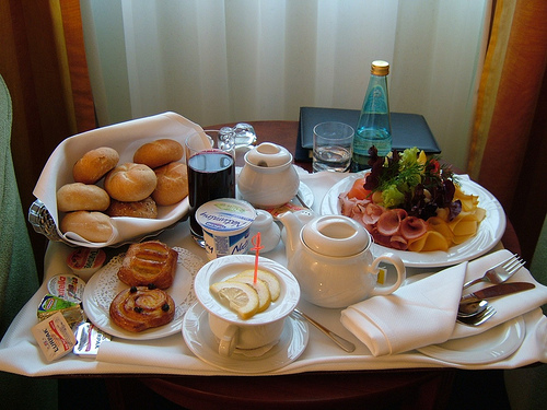 Do you eat children for breakfast? - Picture of a sumptuous breakfast. Photo source: http://farm3.static.flickr.com/2035/2470542340_2c55712458.jpg?v=0 .