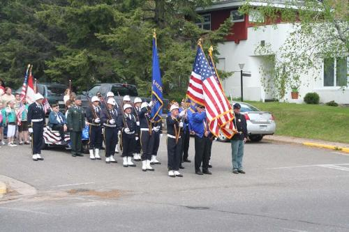 American Leigon Honor Guard for Memorial Day Parad - The local American Leigon Honor Guard leads the local Memorial Day Parade.