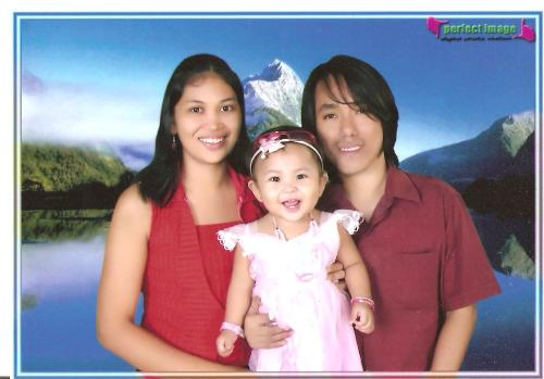 family pic -  fmily pic when my baby turning in 1 years old