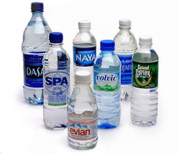 bottled water - different brands of water