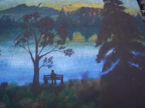 art - a part of a painting by John Seekins