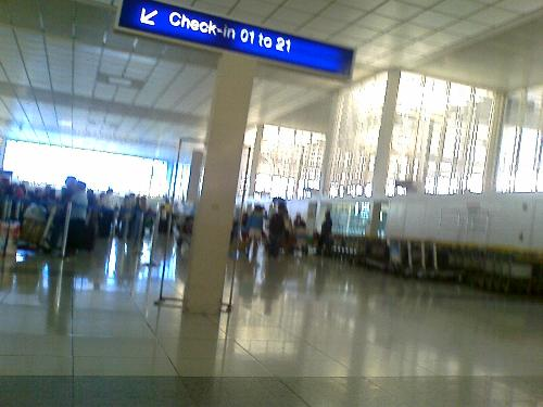 Check in Counter - This is a picture taken a few hours ago when I checked in