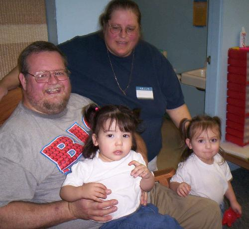 My family - Mark, me, Kayla and Gabriela