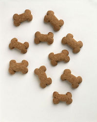 Dog Bone Cookies/Biscuits - This is a picture of dog cookies similar to the ones that I make.