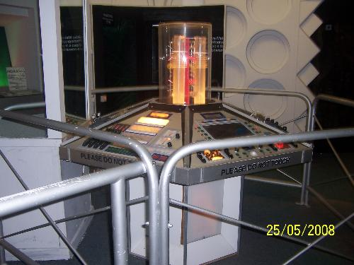 Part of the Dr Who exhibition - This photo is supposed to be of the inside of the tardis, the control panel.
