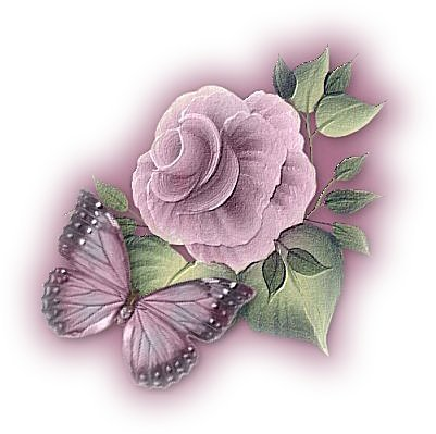 purple roses with a butterfly  - a beautiful purple rose with butterfly