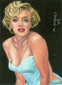 Marilyn Monroe Sketch card Painting - This is a painting I did of Marilyn Monroe the size of a sketch card.