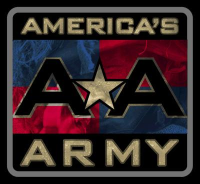 Americas Army Logo - This is the Americas Army logo. Americas Army is a free online first person shooting game where you stand in the shoes of an american soldier.