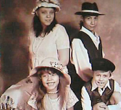 Our family (Old School Themed) Pic - We also had individual shots made of this theme. The kids had loads of fun.